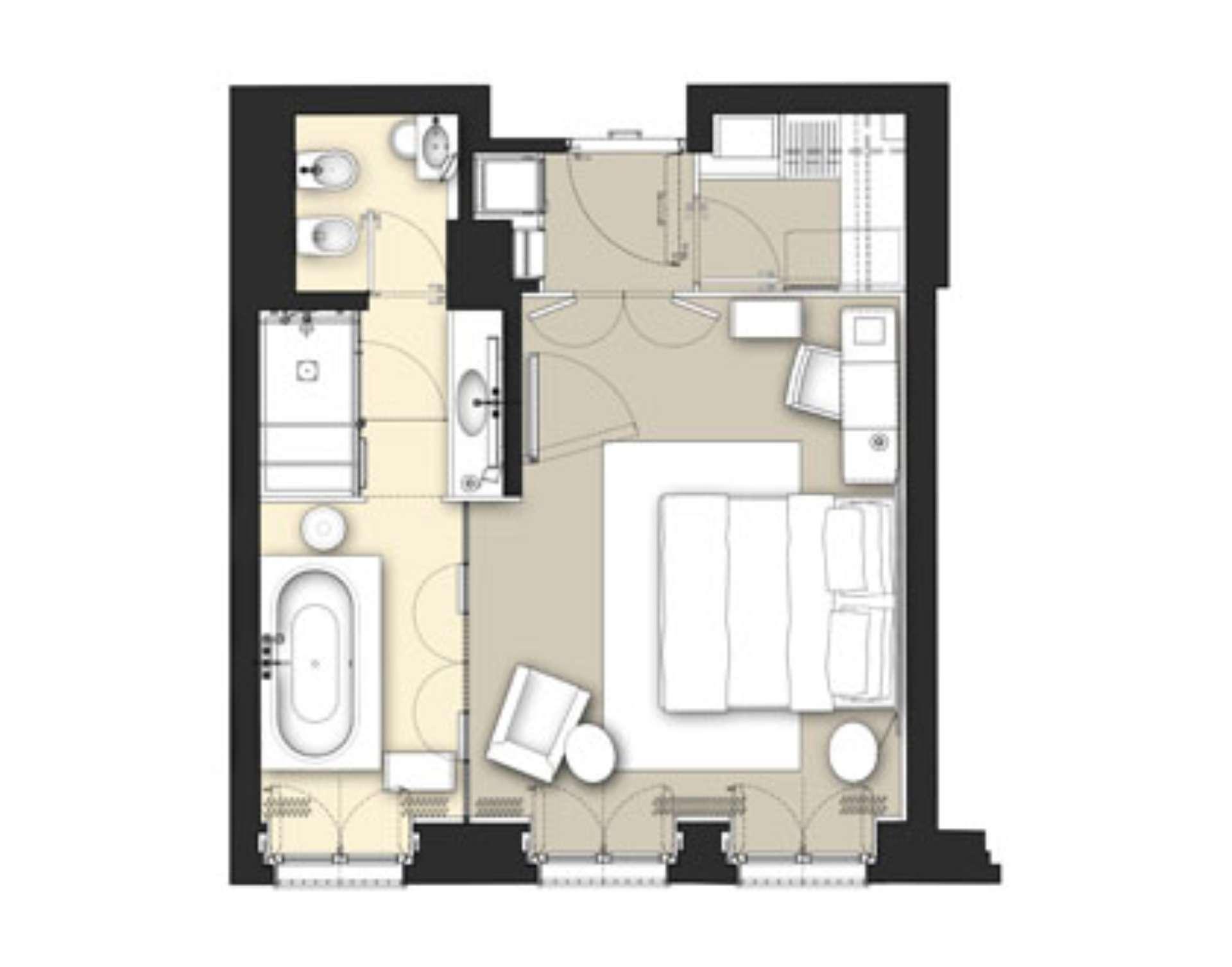 Luxury hotel premium rooms milan italy bulgari hotel milano for Plans room