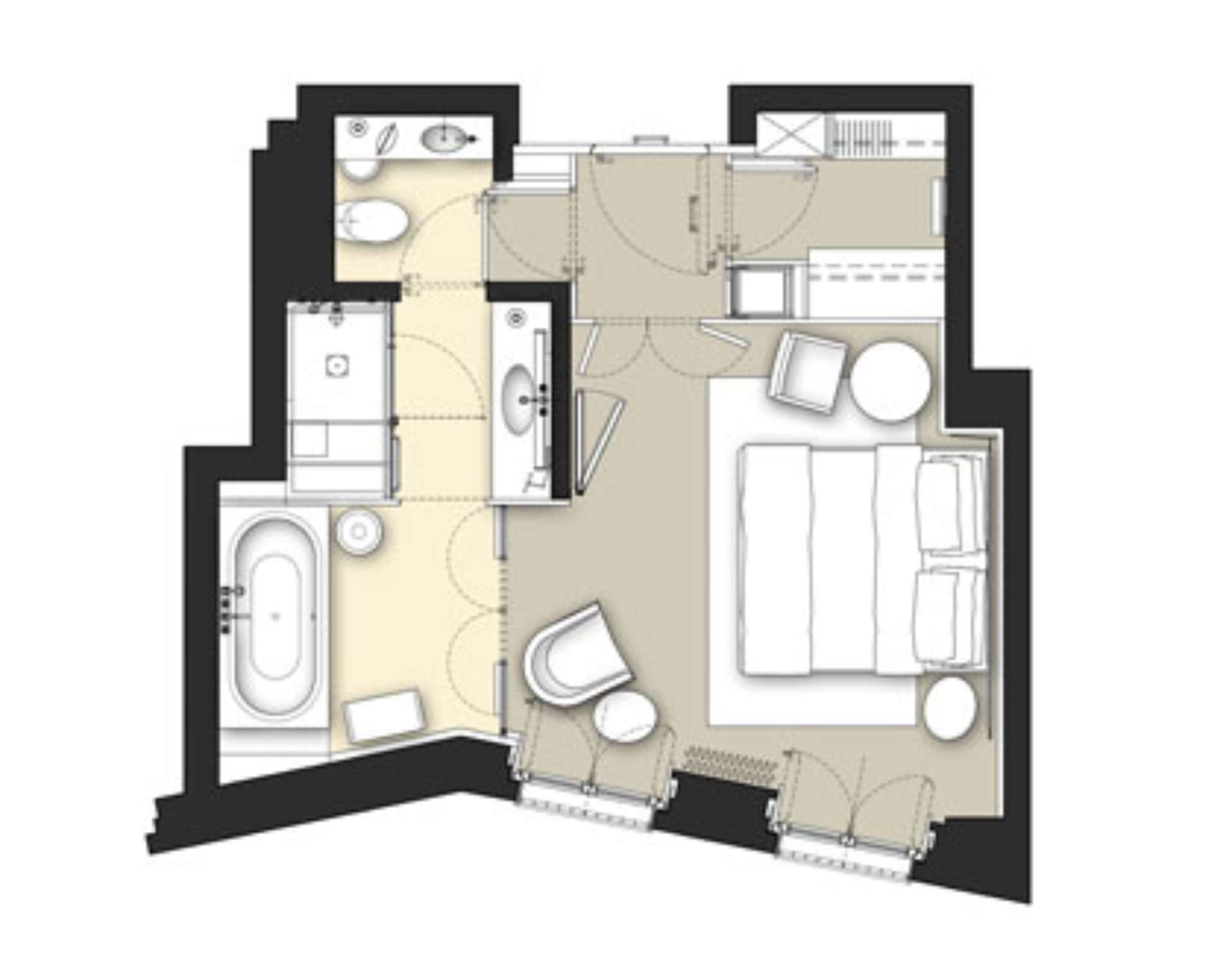 Luxury hotel superior rooms milan italy bulgari hotel milano for Plans room