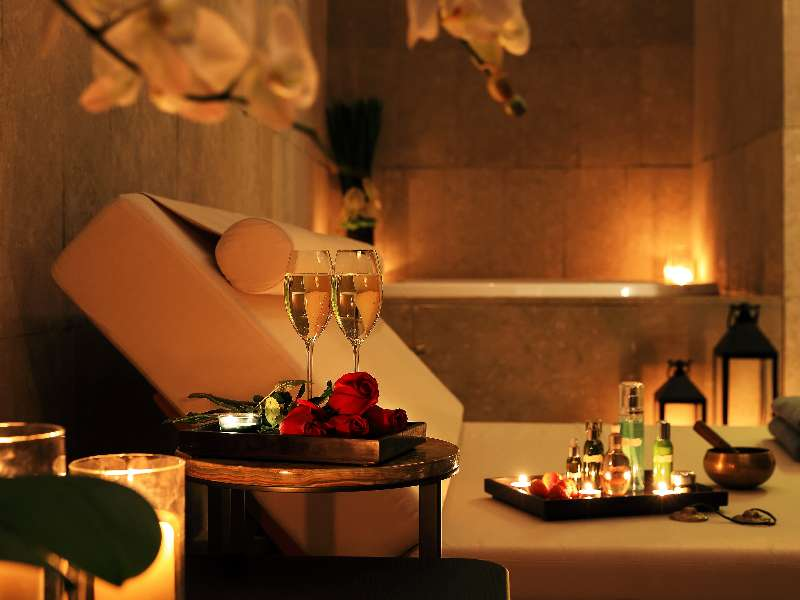 A detail of the treatment room at the Bvlgari Spa of The Bvlgari Hotel Beijing