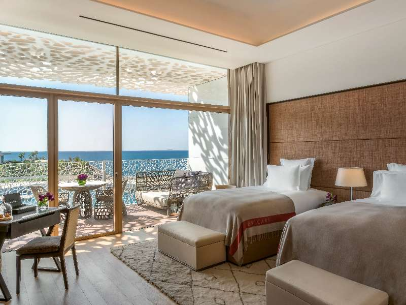 The Premium Ocean View Room at The Bvlgari Resort Dubai