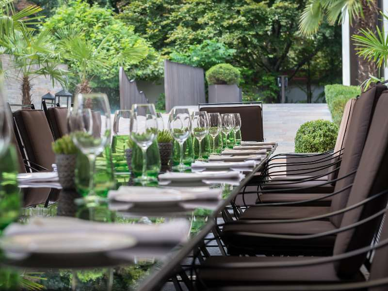 Brunch at Il Giardino at The Bvlgari Hotel Milano