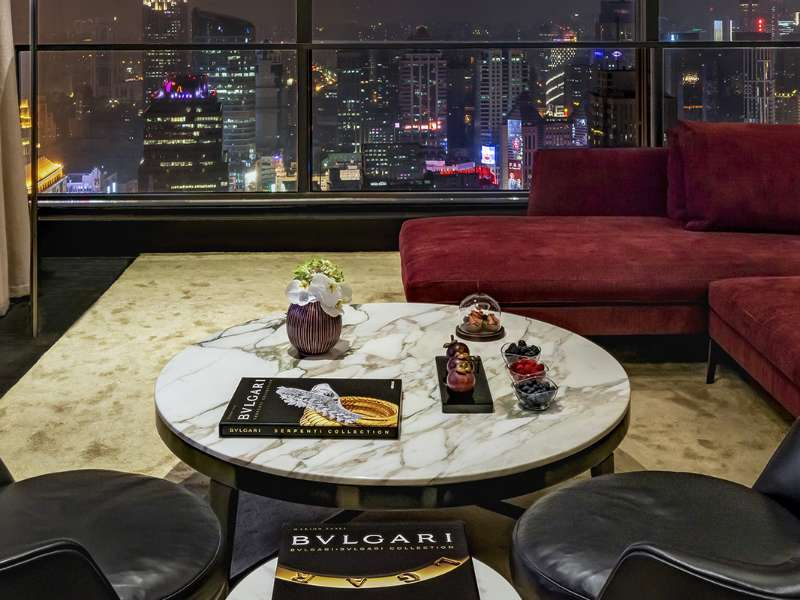 The suites at The Bvlgari Hotel Shanghai