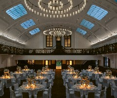 The ballroom by night at The Bvlgari Hotel Shanghai