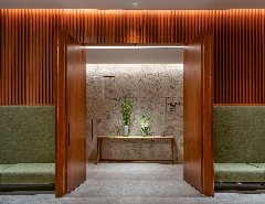 The entrance of the Bvlgari Spa at The Bvlgari Hotel Shanghai
