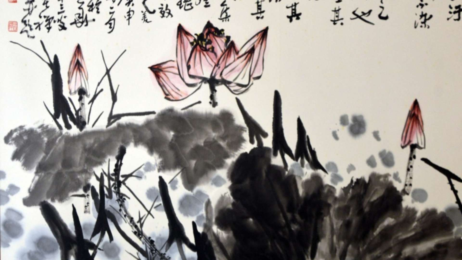 Li Kuchan, Red Lotus | Courtesy of Long Museum, Shanghai