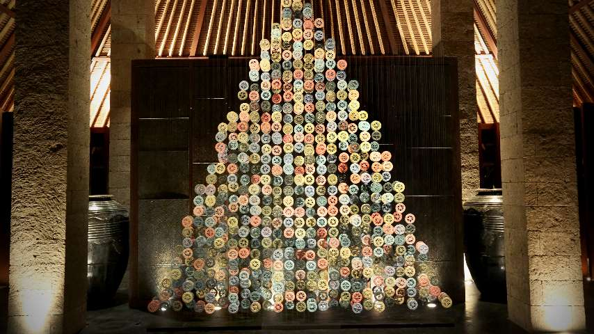 The Christmas Tree by Gaia Ceramics at The Bvlgari Resort Bali
