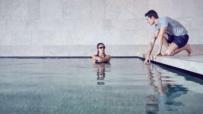 A swimming class at The Bvlgari Hotel Beijing