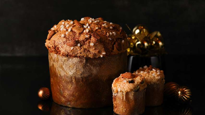A panettone and other festive sweets