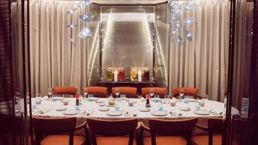 Luxury restaurant in london rivea london bvlgari hotel Small dining rooms london