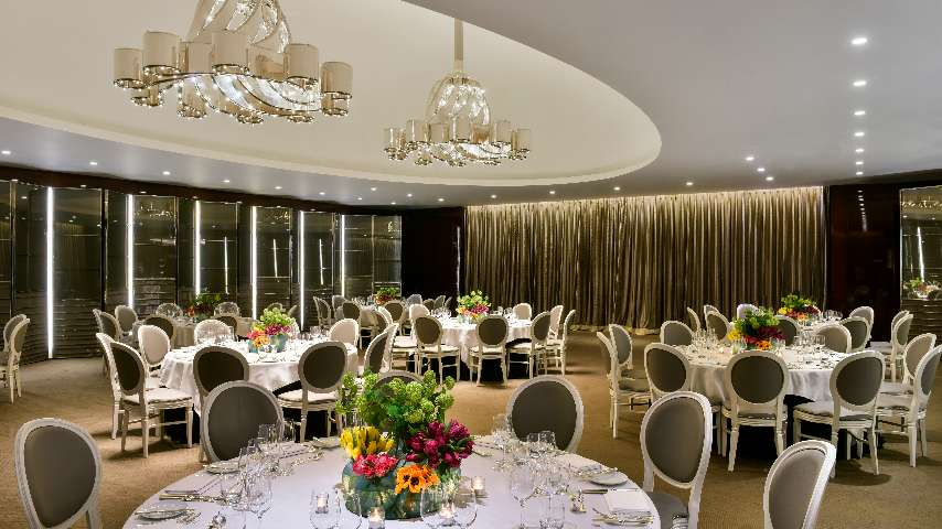 A detail of the Ballroom at The Bvlgari Hotel London