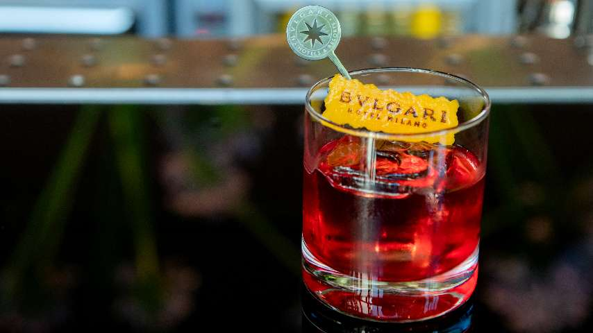 Upscale Cocktail Bar And Aperitivo In Milan Bvlgari Hotel